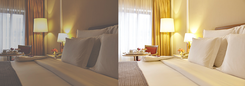 use editing software to improve hotel images