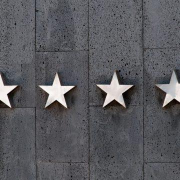 Imágen de las 5 estrellas de un hotel