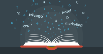 An infographic of a glossary of marketing terms for hoteliers