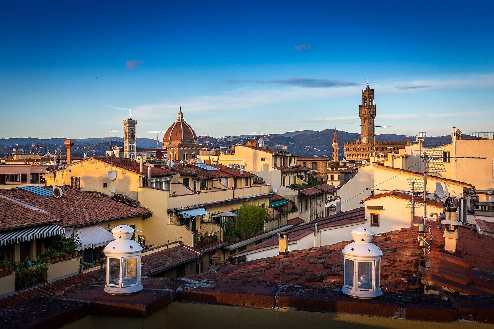 Vista dalla terrazza de La Scaletta di Firenze