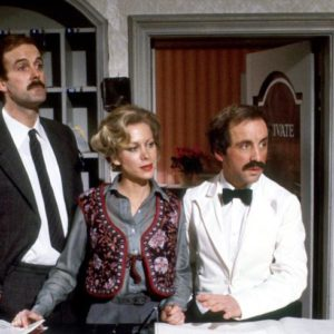 3 characters from the BBC show Fawlty Towers