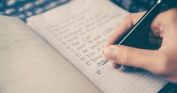 a blurred closeup of a checklist