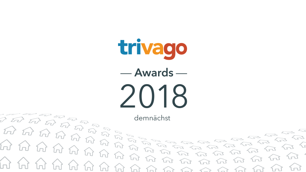 """Eine Grafik mit dem Logo der trivago Awards 2018 und dem Text """"Coming soon""""."""