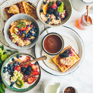A hotel laden with must-have breakfast foods