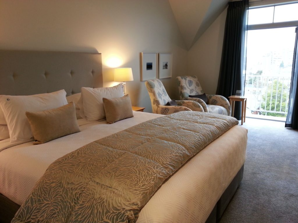 Hotel room of Bluestone on George in New Zealand