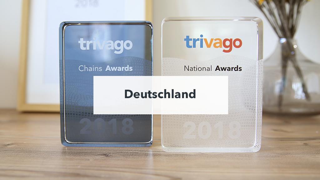 Die Preise des trivago Awards 2018 für Deutschland