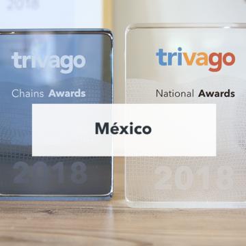 Trofeos de ls trivago Awards 2018