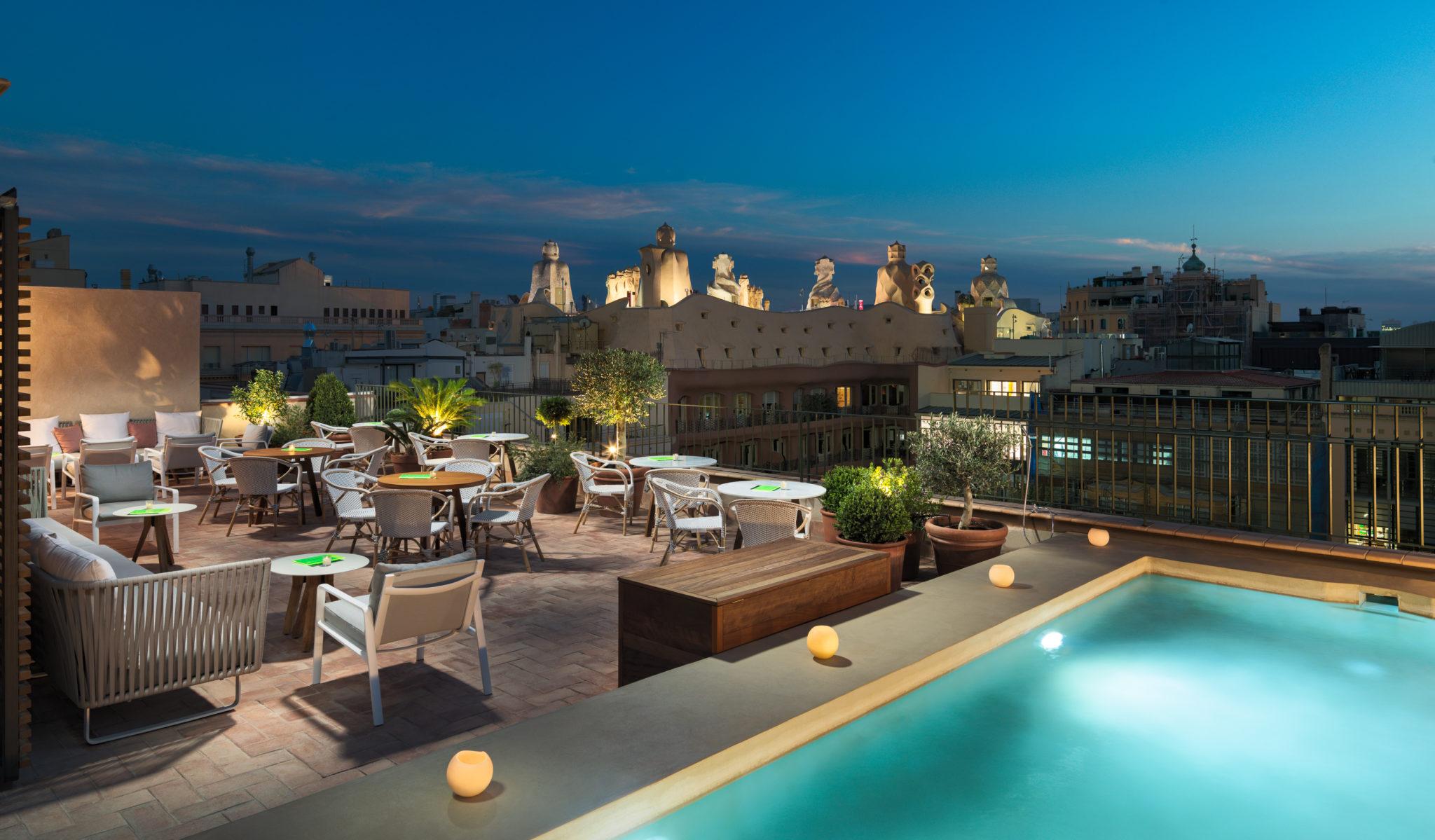 terraza del hotel H10 Casa Mimosa