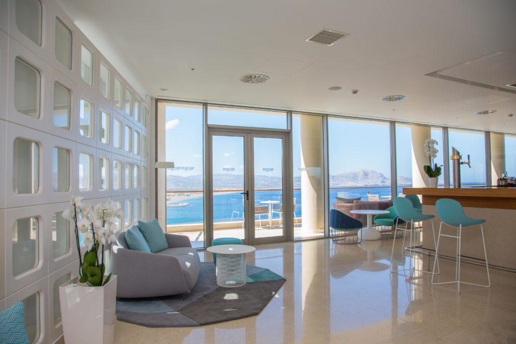 Εικόνα που δείχνει το χώρο του ξενοδοχείου Lindos Blu