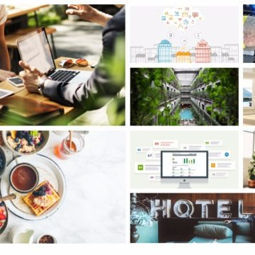 Un collage d'images d'articles du blog trivago Hotel Manager