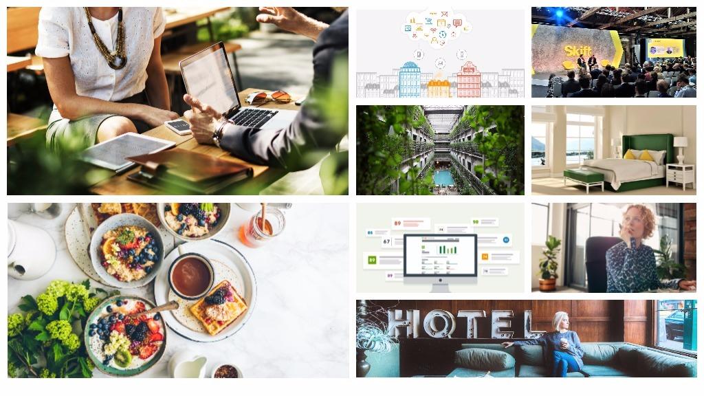 Un collage d'images d'articles du blog trivago Hotel Manager