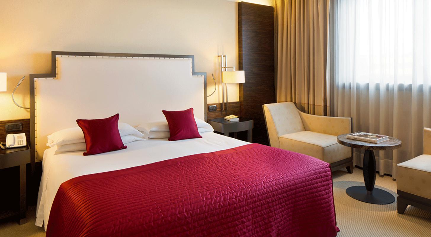 Una delle camere dello Starhotels Grand Milan