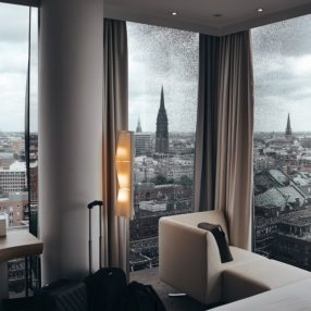 a view from a hotel in Hamburg