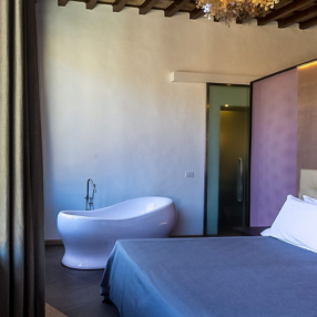 A luxury suite at La Scaletta