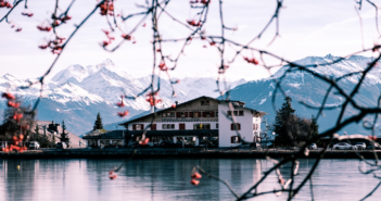Photo of a Swiss Hotel in late-winter, early spring