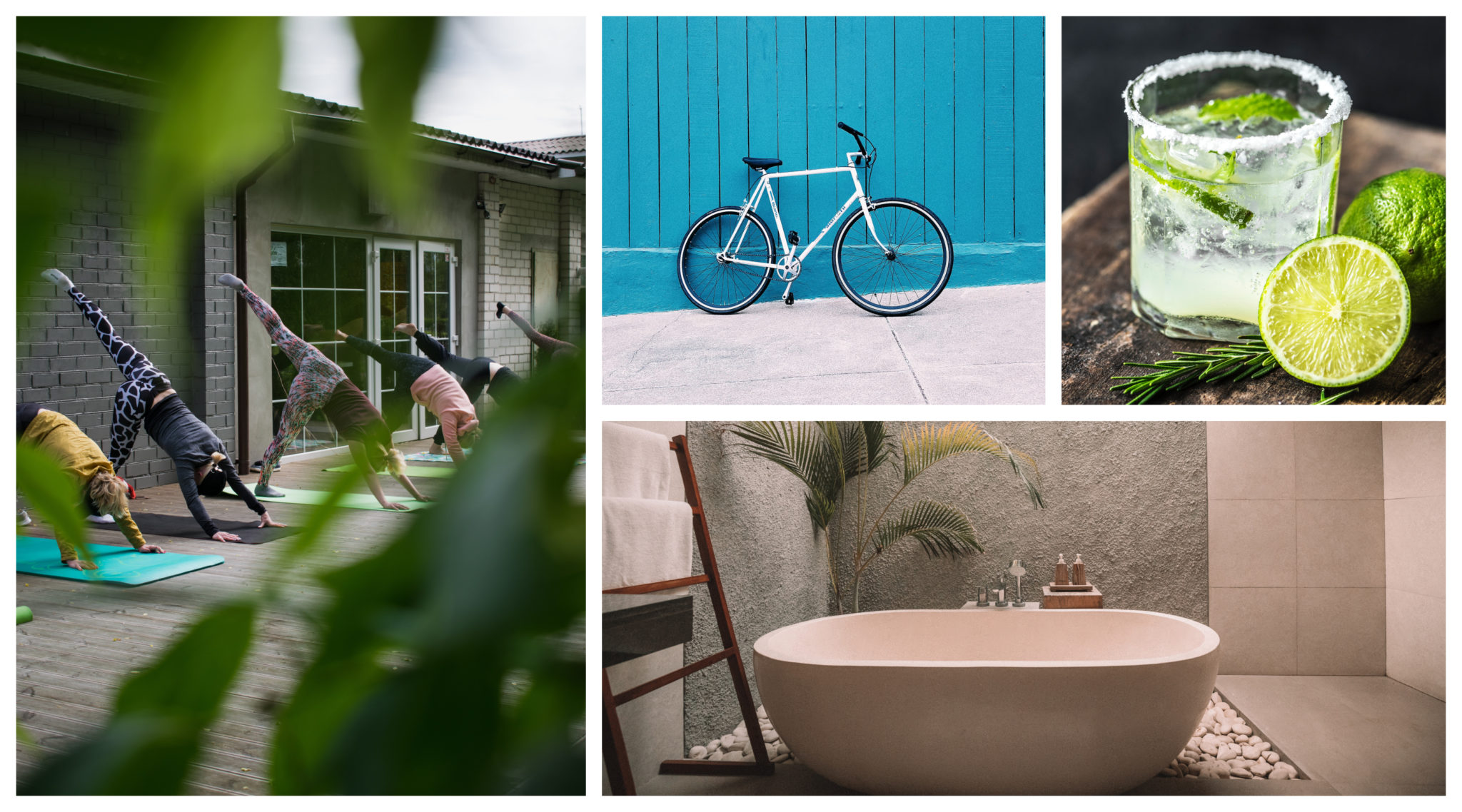 Photo collage of best hotel amenities for different traveler types