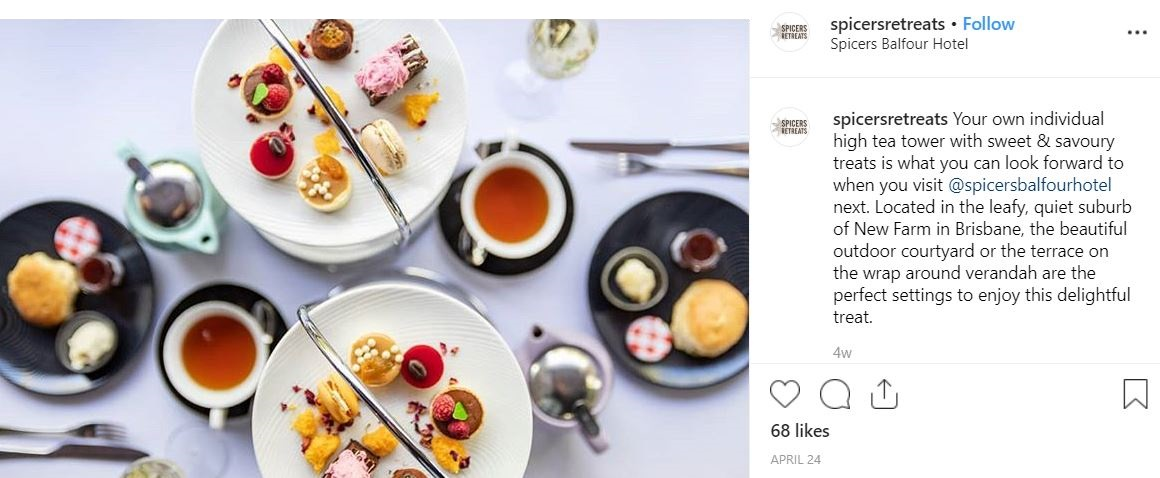 Instagram for independent properties food photo
