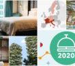 Collage con fotografías de hotelería