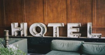 Hotel alphabet décor