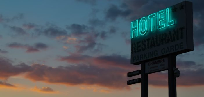 A hotel signboard